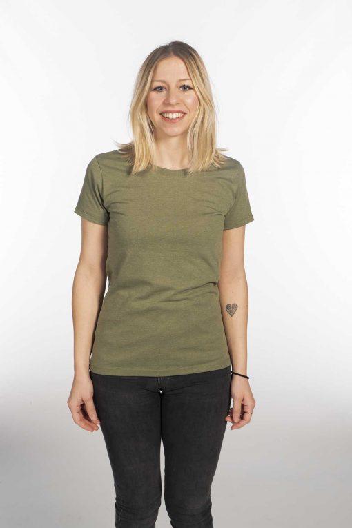Camiseta jaspeada verde