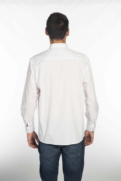 Camisa cuello mao blanca