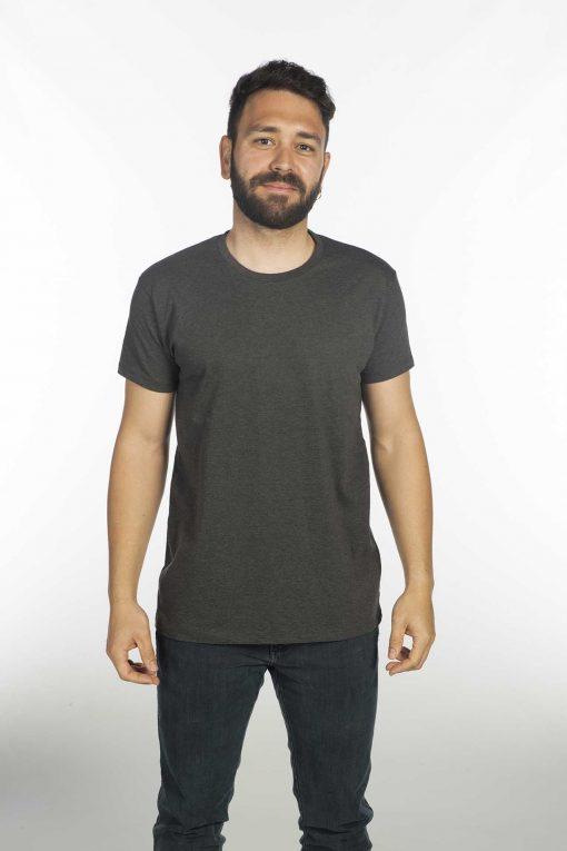 Camiseta jaspeada gris
