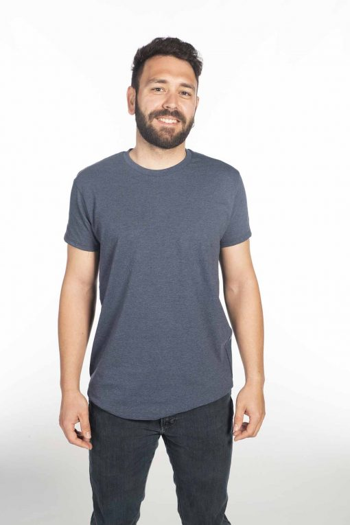 Camiseta jaspeada azul