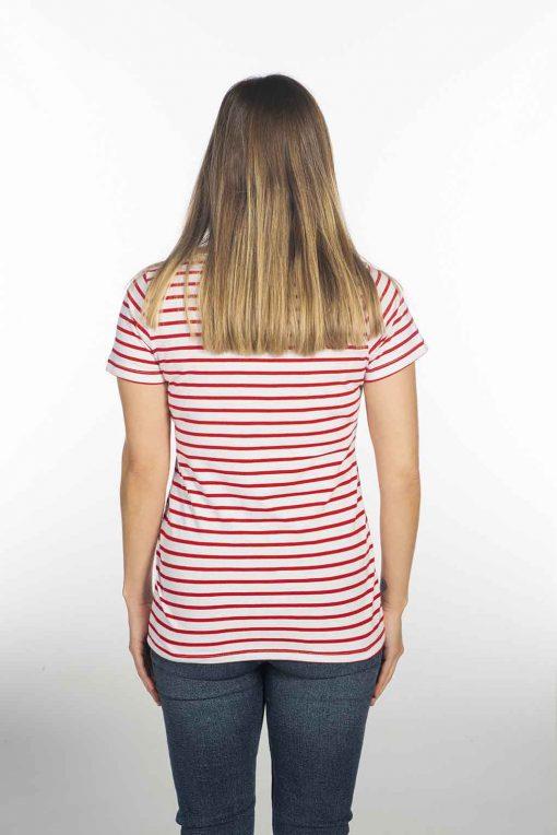 camiseta nautica roja de trabajo
